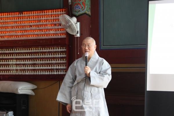 민족공동체추진 부산지역본부장 심산 스님